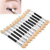Polytree 12x Makeup Double-End Eye Shadow Sponge Brushes Applicator Cosmetic Beauty Tool