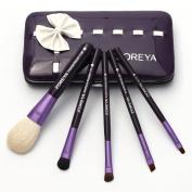 Neverland Beauty 5pcs Purple Makeup Brushes Brush Set Foundation Eyeshadow Soft Brushes Cosmetic Blusher Tool+ Case Bag