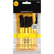 Essential Tools Step 2 Eyes Total Eye Makeover Makeup Brush Set, 6 pc