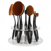 Gillberry 10 Hole Oval Makeup Brush Holder Drying Rack Organiser Cosmetic Shelf Tool Features