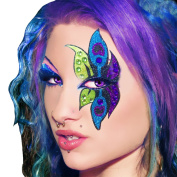 Peacock Xotic Eyes Professional Eye Make Up Green Purple Blue Costume