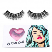 Handmade Siberian Mink Fur False Eyelashes in style Larue by La Vida Lash adds the finishing touch to any eye makeup look, whether dramatic or Natural. Mini Eyelash Glue included