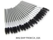 Disposable 20 Pcs Eyelash Brush Mascara Wand Applicator Grey
