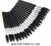Disposable 20 Pcs Eyelash Brush Mascara Wand Applicator Black
