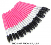 Disposable 20 Pcs Eyelash Brush Mascara Wand Applicator Pink