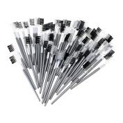 Baisidai 60 PCS 2 in 1 Lash Eyelash Extension Brush Comb