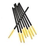 BeautyMall 50 Pcs Disposable Eyelash Mascara Brushes Wands Yellow