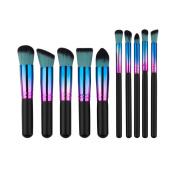 Fullkang 10PCS Cosmetic Makeup Brush Brushes Set Foundation Powder Eyeshadow