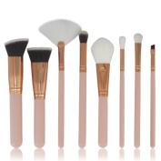 Fullkang 8pcs Cosmetic Makeup Brush Blusher Eye Shadow Brushes Set Kit