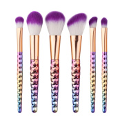 Creazy 6PCS Cosmetic Makeup Brush Makeup Brush Eyeshadow Brush