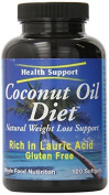 Health Support Coconut Oil Diet Softgel Capsules, 120 Count by Health Support