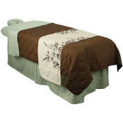 For Pro Premium Table Skirt Sage Massage Linen