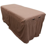 Microfiber Massage Table Skirt - Walnut Brown from Body Linen - Lightweight, Super Soft and Stain-Resisting - Warm, Relaxing Brown Colour - Massage Table Bed Skirt to Fit Standard Size Massage Tables