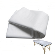 10pcs Disposable White Flat Massage Bed Sheet Linens Table Cover Waterproof
