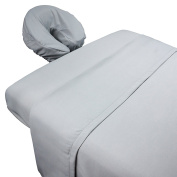 Tranquilly Microfiber Massage Sheet Sets By Body Linen - Lightweight, Long-Lasting Microfiber Massage Table Sheet Set - Stain-Resistant, Soft and No Pilling {Mirage Grey}