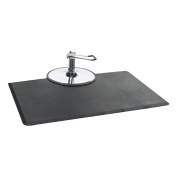 OMWAH 1.3cm Thickness Black 0.9m x 1.5m Rectangular Salon Mat