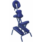 Ataraxia Deluxe Portable Folding Massage Chair w/Carry Case & Strap - Blue