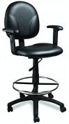 Veeco B-1691-CS Salon Spa Make-Up Chair in BLACK + FREE Cape Co. Apron