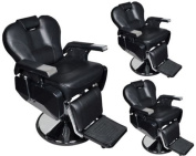 TMS® 3 x All Purpose Hydraulic Recline Barber Chairs Salon Beauty Spa Shampoo Equipment