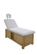 Massage and Facial Bed Wooden with Adjustable Height Plus Drawer Storage