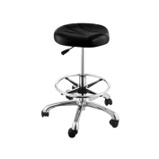 Adjustable Height Hairdressing Stool with Footrest Ring