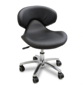 Continuum Standard Salon & Spa Nail Technician Chair in (BLACK) + FREE Cape Co. Apron ($20 value).