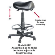 Kayline Stylist Saddle Stool Hi-rider * Seating Black Vinyl - Black * # 812v