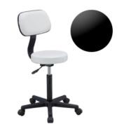 Hive of Beauty White Salon Spa Stool Massage Manicure Gas Lift Stool Chair CODE