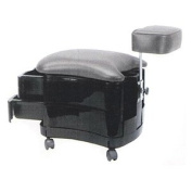 Pibbs Two Shelf Pedicure Stool with Footrest Model 2033