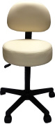 Pneumatic Rolling Adjustable Stool with Removable Backrest