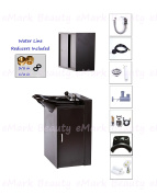 ABS Plastic Backwash Shampoo Bowl with Floor Cabinet & Upper Towel Cabinet TLC-B13FC-TC