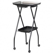 FT59-A Fold-A-Way Colouring Service Cart w/Stain Resistant Aluminium Tray by Kayline
