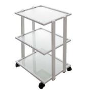 Three Glass Shelf Beauty Spa Rolling Trolley/cart