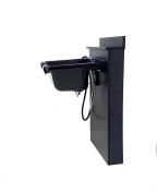 Square ABS Plastic Shampoo Bowl Black Floor Length Backsplash TLC-B11-BC38