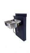 Stainless Steel Shampoo Bowl Floor Length Backsplash 1167-BC38