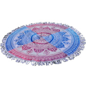 Hatop Colourful Round Beach Towel Sand Beach with Tassel Fringe Tribal Beach Cover Up