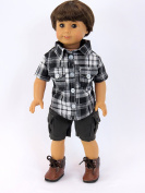 Grey and Black Boy Outfit for 46cm Dolls