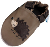 MiniFeet Soft Leather Baby Shoes, Hedgehog