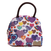 Wowlife Rainbow Love Heart Lunch Bag Tote Bag Lunch Organiser Lunch Holder Lunch Container Reusable Lunch Bags