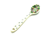 Polish Pottery Spoon - Small - Burgundy Berry Green