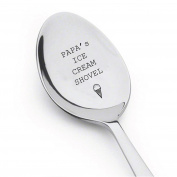 Papa's ice cream shovel | Father's day gift |Spoon Gift for dad | Gift for Ice Cream Lover