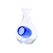 JapanBargain Set of 4 Blue Glass Sake Bottles with Hole 350ml