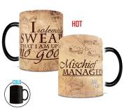 Morphing Mugs Harry Potter Hogwarts Magical Marauder's Map Heat Reveal Ceramic Coffee Mug - 330ml