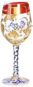 Lolita Glassware Love My Dog Wine Glass (4054092), 23cm , Multicolor