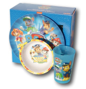 Zak Designs Nickelodeon Paw Patrol 3-Piece Plate, Bowl, and Tumbler Mealtime Set