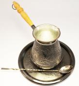 "Turkish Coffee Pot Set ""Deer"" Volume 17 Oz - 500 ML"