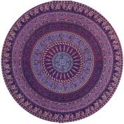 Hatop Round Hippie Tapestry Beach Throw Roundie Mandala Towel Yoga Mat Bohemian