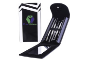 MARS Wellness Premium Professional Come done Blackhead/Pimple Extractor and Blemish Remover Tool - Mirror Included