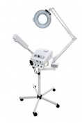 Ozone Steamer with 5 Diopter Magnifying Lamp & High Frequency