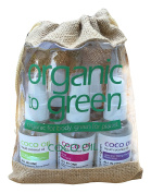 Organic to Green Travel Kit All Five Coco Oils with Jute Draw String Bag